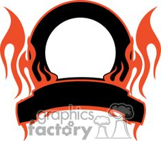 Royalty-Free Royalty-Free flaming template 036 clip art images, illustrations and graphics - # 372878