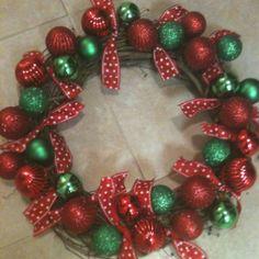 Christmas Wreath I made. Took about 1 hour to make.