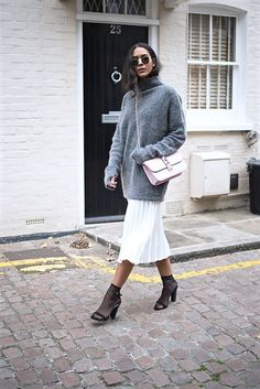 Get this look: http://lb.nu/look/8478443  More looks by Elvira Vedelago: http://lb.nu/carellestyle  Items in this look:  Ray Ban Round Sunglasses, H&M Mohair Blend Jumper, Valentino Glam Lock Shoulder Bag, Zara Pleated Midi Skirt, H&M Thin Socks, Zara Studded Sandals   #casual #chic #elegant