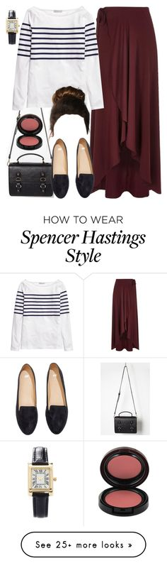 """""""Spencer Hastings inspired outfit with a maxi skirt"""" by liarsstyle on Polyvore featuring Forever 21, River Island, H&M, Kevyn Aucoin, date, weekend, college, mid and museum"""
