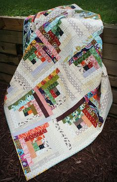 Quiet Cabin Quilt - Angled View by Cut To Pieces, via Flickr - using low volume make at 12.5 and use scraps