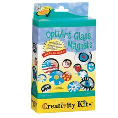 Creativity for Kids, Pop-Art Magnets, Acrylic Magnets Kids Craft Sets, Fun Crafts For Kids, Kids Pop, Glass Magnets, Paint Supplies, Kits For Kids, Glass Marbles, Wow Products, Creative Kids