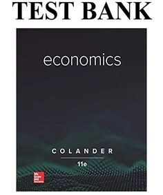 This is the complete Economics Edition Test Bank By Colander . All chapters are included and complete with all questions and answers. How To Pronounce, Economics, Textbook, Meant To Be, Stainless Steel, Reading, Banks, Ideas, Reading Books