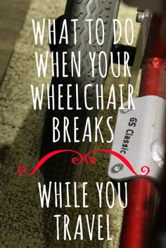 It can be an incredibly stressful time when your wheelchair breaks while you're traveling, but there are a few things you can do to make it go smoothly. Traveling By Yourself, Stress, Mexican, Search, Blog, Searching, Blogging, Psychological Stress, Mexicans