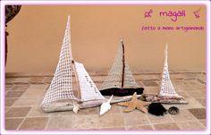 barchette con legnetti del mare