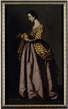"""St. Dorothy"", 17th C., by Francisco de Zurbarán (Spanish, 1598-1664)."