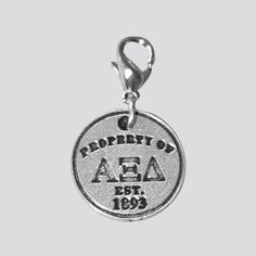 Alpha Xi Delta Pewter Key Chain #xiboutique