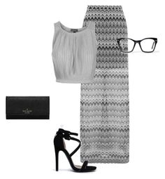 """""""Chrome"""" by soccergal05 ❤ liked on Polyvore featuring Miss Selfridge, Topshop, Qupid, Kate Spade and Spitfire"""