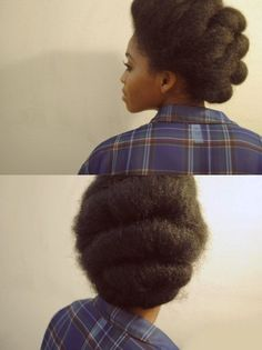 I <3 this full vintage up-do. This totally reminds me of a style that  @Mammi-Ama Ofori would rock well!