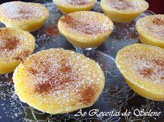 Queijadinhas de Mandarim na Yammi | As Receitas da Selene Bolo Fit, Doughnut, Hamburger, Sweets, Bread, Fruit, Desserts, Food, Pastries