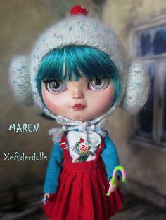 OOAK Custom Blythe doll-Art doll MAREN custom by XeiderDolls