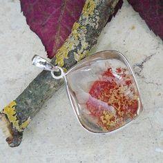 Lodolith Garten Quarz, Anhänger, 925 Sterling Silber in Uhren & Schmuck, Echtschmuck, Halsketten & Anhänger   eBay