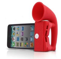 Amazon.com: Red ihorn for iPhone 3, 3G, 4, 4S: Cell Phones & Accessories