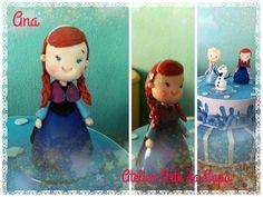 Topo de Bolo Frozen Ana em Biscuit #AtelierArtedaLapa #TopoFrozenAna