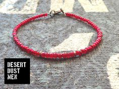 Ruby mens bracelet, Mens ruby bracelet, Ruby for men, Ruby mens jewelry, Red mens bracelet, Mens red bracelet by DESERTDUSTMEN on Etsy