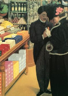 Le Bon Marché, 1898 by Félix Vallotton (Swiss/French 1865-1925)....right hand panel of tryptich...