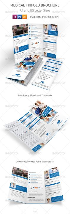Indesign Business Brochure Bifold Template  Best Business