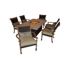 Highland 5 Piece Wood Patio Dining Furniture Set Highland 5 Piece