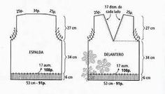 Resultado de imagen para moldes de sacos tejidos a dos agujas