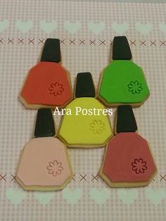 Galletas esmalte de uñas #fondant #arapostres