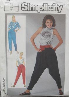 a5d06b38c535 80s MC HAMMER Disco Harem Pants Pattern