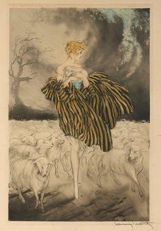 Hebe (Louis Icart 'Little Bo Peep 1927)