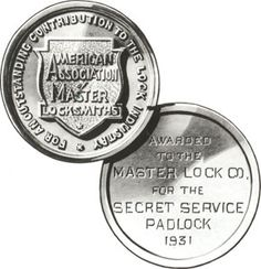 1931 - Harry Soref received the only gold medal ever given by the American Association of Master Locksmiths for the greatest development in locks over the past 50 years.