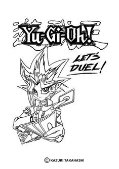 Lets Duel Yu Gi Oh Coloring Page Do You Like YU GI OH Pages Can Print Out This Pagev Or Color It Online With