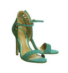 Office Awesome Heeled Sandals Aqua Nubuck - High Heels