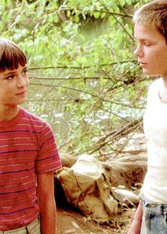 Stand By Me. Wil Wheaton and River Phoenix