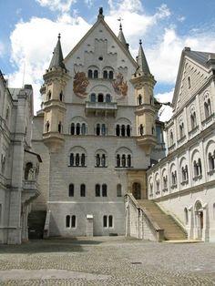 Inner courtyard Neuschwanstein Castle, Germany