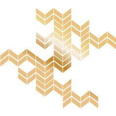 Dry Erase XL Chevron Wall Decal - Gold