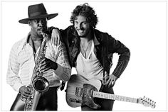 Clarence Clemons and Bruce Springsteen - Eric Meola, Born To Run sessions: Blowing That Saxophone
