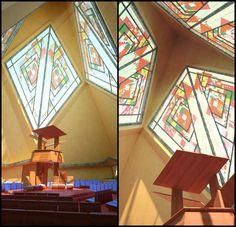 Frank Lloyd Wright's unbuilt Trinity Chapel brought to life in vivid renderings | Inhabitat - Green Design, Innovation, Architecture, Green Building