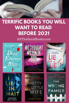 Coming Soon! Terrific Books You Will Want To Read Before 2021 - ALL THE GOOD BOOKS