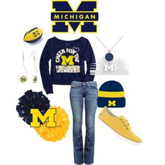 """GO BLUE!!!!!"" by jancarlson on Polyvore"