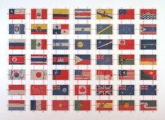 Yukonori Yanagi's subtle critique of European imperialism, Pacific 1996 (says the Tate's website)