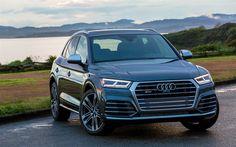 Download imagens cruzamentos, Audi SQ5, carros alemães, 2018 carros, cinza sq5, Audi