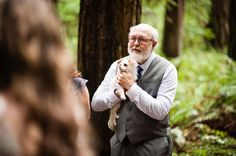 It's not a #wedding without including your pup! See all the beautiful details here of this intimate destination wedding here: http://www.mywedding.com/articles/craig-and-cecilias-woodsy-cave-junction-or-wedding-by-viera-photographics/