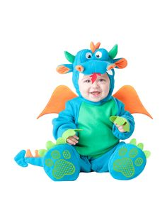 InCharacter-Lil-039-Dragon-Infant-Fancy-Dress-Baby-Blue-Costume-Outfit-0-24-Months