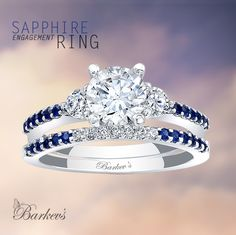 Barkev's Blue Sapphire Engagement Ring - 7539SBS