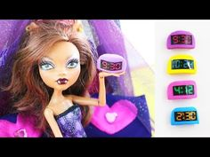 How to make a doll digital alarm clock - Easy doll Crafts - YouTube