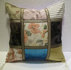 patchwork pillow cushion cover home decor modern decoration sofa throw mod 54 #Handmade #ArtDecoStyle
