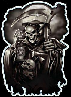 Grim Reaper Skull Scythe Tattoo Design   Ajilbab.Portal