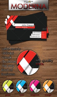 Moderna Business Card  #GraphicRiver         FOR ANY KIND OF BUSINESS    300dpi CMYK 2sides(FRONT AND BACK THE SAME ) EXTREME DETAILS    FONT : CENTURY GOTHIC  .searchfreefonts /font/century-gothic.htm   Easy to edit just click on it! If you want to ask me anything else send me e-mail     Created: 21February11 GraphicsFilesIncluded: PhotoshopPSD Layered: No MinimumAdobeCSVersion: CS PrintDimensions: 3.5x2.5 Tags: business #card #clean #cyan #magenda #modern #orange #purple #red #web2.0style Cleaning Business Cards, Cool Business Cards, Information Graphics, Print Templates, Graphic Design, Purple, Creative, Infographics, Card Templates Printable