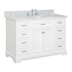 "Aria 48"" Bathroom Vanity (Carrara/White) Kitchen Bath Col... https://www.amazon.com/dp/B0147OGFA8/ref=cm_sw_r_pi_dp_x_UFvjybG49GN32"