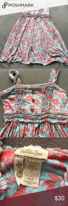 Matilda Jane floral dress. Sz 14 Excellent condition. Super soft and comfy. I am an established Posh seller check out my other closet @Shanesmom2 Matilda Jane Dresses Casual
