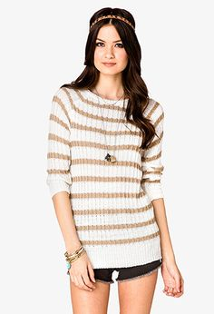 Striped Longline Sweater | FOREVER21 - 2026192875