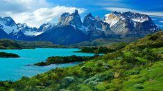 Pehoe Lake, Torres del Paine National Park, Patagonia, Aisén Region, Chile.