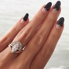 This is how to stack a marquis engagement ring!